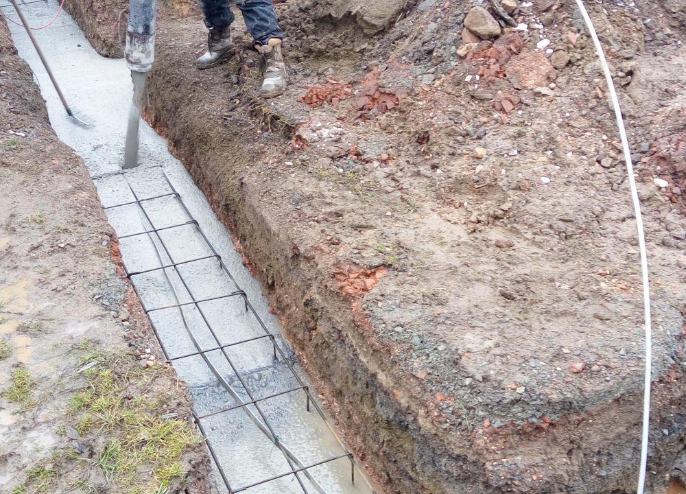 základové pasy betonování