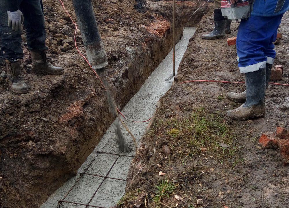 základová spára betonáž